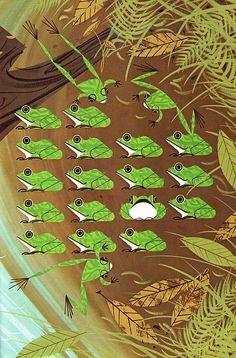 Twenty Froggies by Charles Harper