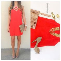 SEE IT ON  Be a walking Valentine in this fiery red number! @dressmingle is open every Saturday from 9am-3pm. #dressmingle #saturdaysareforshopping #redhot #reddress #ootn