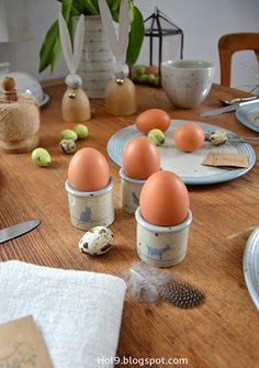 die ersten Hasen oder Tischdeko zu Ostern....