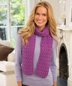Ein richtig warmer Muschel-Schal. Red Heart® Lisa hat viele Farben, du kannst dir deine Lieblingsfarbe auswählen.