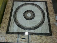 A 40 inch braided medallion squared off