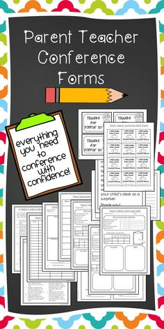 Parent Conferencing with Confidence! This packet has everything you need to make your parent-teacher conferences meaningful and productive. Includes schedule sheet, reminder notes, guide for teachers, conference forms, and much more! Perfect!