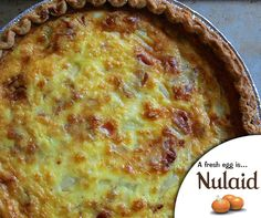 This delicious Bacon, Egg & Cheese Quiche dish goes from brunch buffet to dinner table in a snap and is great with a green salad. For the full recipe, click here: http://ablog.link/6st. #Nulaid