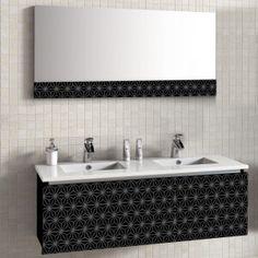 Ensemble de meuble de salle de bain 2 lavabos miroir Vincennes