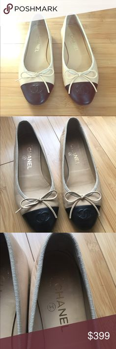 best service b2f26 48761 Authentic Chanel Ballerina Flats Classic 35.5 Very good condition. Minor  scuffs. Wear on sole. CHANEL Shoes Flats   Loafers