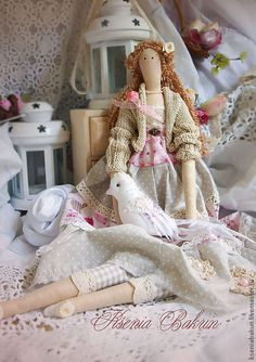 Куклы Тильды ручной работы. Ярмарка Мастеров - ручная работа. Купить Тильда Лайз. Handmade. Бледно-розовый, тильда кукла