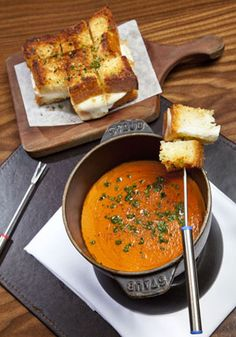 TO TRY: Grilled cheese fondue, Nobhill Tavern, MGM Grand