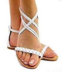 37ab613b3f204 Ultimate Women s Braided Flat Gladiator Sandal Thong Flip Flops Y- Strap  Style