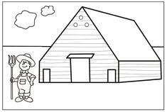 Farm Coloring Pages Kids Printable Coloring Pages, Shape Coloring Pages, Farm Animal Coloring Pages, Coloring Sheets For Kids, Coloring Pages For Kids, Coloring Books, Valentines Day Coloring Page, Christmas Coloring Pages, Farm House Colors
