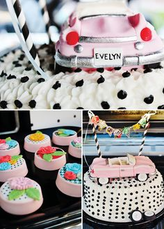 {Baby, Let's Cruise} Funky & Feminine Classic Car Party