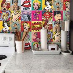 Adesivo de parede Pop Art