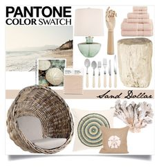 """Pantone Color Swatch: Sand Dollar"" by incubeautee ❤ liked on Polyvore featuring interior, interiors, interior design, home, home decor, interior decorating, Universal Lighting and Decor, Nordstrom, Jamie Dietrich Designs and Jayson Home"