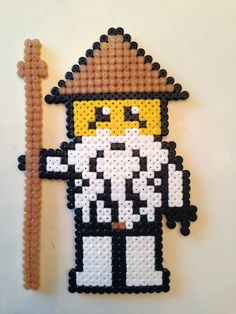 LEGO Ninjago pattern by Aldray Ferreira Perler Beads, Perler Bead Art, Fuse Beads, Melty Bead Patterns, Hama Beads Patterns, Beading Patterns, Perler Bead Designs, Beading For Kids, Lego Craft