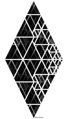 Tattoo geometric triangle shape 20 Ideas for 2019 Geometric Patterns, Geometric Designs, Textures Patterns, Geometric Shapes, Graphic Patterns, Tattoo Tribal, Pattern Texture, Muster Tattoos, Graphisches Design