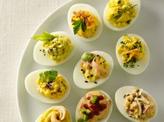 11 Ways with Deviled Eggs Dress up your holiday appetizer platter with fresh new takes on a party classic.