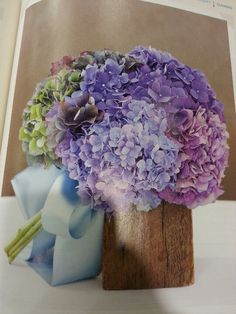 As a child, we always grew Hydrangeas in my backyard.  This would be a lovely, simple bouquet a family member could easily cut for you the morning of your wedding.  -- The Secret Wish Box champions the Slow Wedding Movement.  Learn more about our heirloom of love by visiting our page.