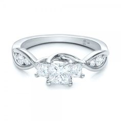 Custom Princess Cut Diamond Engagement Ring