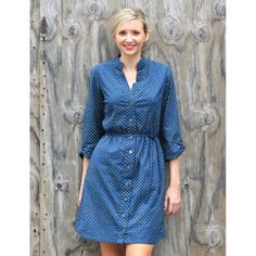 Polka Dot Shirt Dress from Fair Trade Winds. Ship worldwide using Borderlinx.com