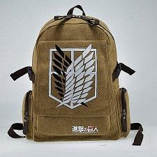 2bcb42ded374 FAIRY SERAPHIM canvas Investigation Corps anime teenagers side zipper  pocket student mochila school bag attack on titan backpack. Backpack  BagsMessenger ...