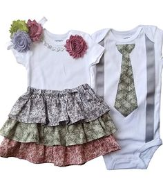 b8be2732f Perfect Pairz Boy Girl Twin Outfits Cosette and Caleb by USA Made Outfit  Review Boy Girl