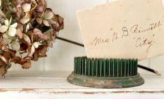 Vintage Metal Flower Frog Round by hilltopcottage on Etsy, $15.00
