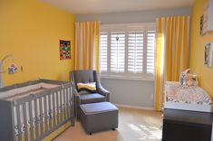Roman's Yellow and Gray Birdieful Nursery - Project Nursery