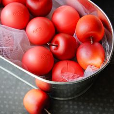 Bobbing for apples or eos lip balms! Great Halloween party games!