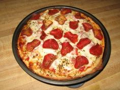 Copycat - Pizza Hut Pan Pizza - this is totally awesome! don't forget the dusting of spices and grated parmesan before baking, and the pan must have enough oil or it doesn't come out right.