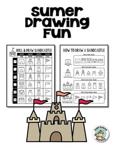 Draw a sandcastle for your summer art lessons.  Use glue and sand to give it a realistic texture.