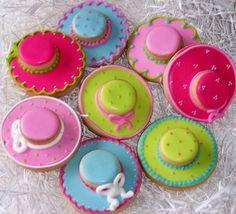 Easter bonnet cookies