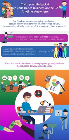 Tradies Job Management Software - Running your Trades business from Anywhere, Anytime! Infographic, Software, To Go, Management, Running, Business, Life, Info Graphics, Keep Running