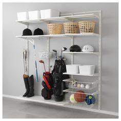 ALGOT Wall upright, shelf and basket - IKEA