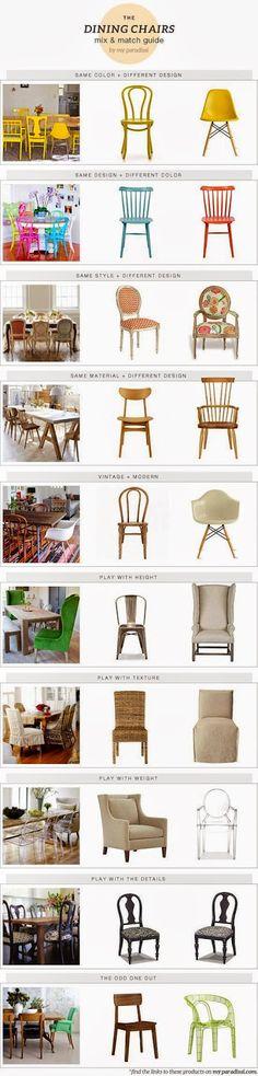 *cadeiras diferentes - como compor