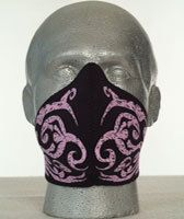 Bandero, Ladies Face Mask - Tribal Flames, pink - Le Rock - Parts & Accessories for Harley-Davidsons