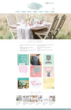 A gorgeous colour palette for this Vintage Hire and e-commerce Wedding Stationery company...www.beyondvintage.co.uk Website design and branding by Studio Spence