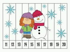 Here is a great for students to practice ordering numbers! With these immediate feedback puzzles, students can put the numbers in order to reveal a Winter related picture. If the numbers are out of order, then the picture will not look as it should. Kindergarten Fun, Preschool Math, Math Classroom, Fun Math, Classroom Activities, Teaching Math, Number Puzzles, Math Numbers, Counting Puzzles
