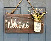 Outdoor/Indoor Welcome Sign