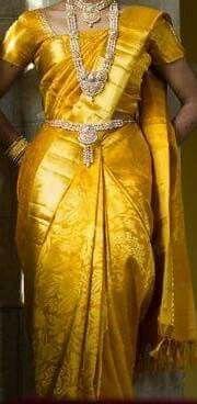 Yellow Pattu Saree