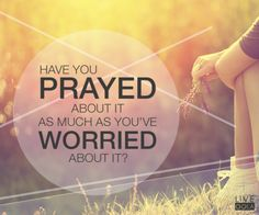 Pray about your worries and give them to God. He has a plan. #OolaFaith
