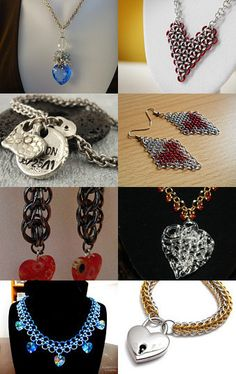 I Heart Chainmaille Hearts--Pinned with TreasuryPin.com