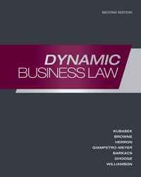Solution Manual for Dynamic Business Law 2nd Edition by Kubasek ISBN 0073524913 INSTRUCTOR SOLUTION MANUAL VERSION  http://solutionmanualonline.com/product/solution-manual-dynamic-business-law-2nd-edition-kubasek-isbn-0073524913-instructor-solution-manual-version/