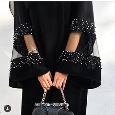 Get this stunning Abaya now for only Rs 3000 - # . - Get this stunning Abaya now for only Rs 3000 – - Fashion Details, Look Fashion, Diy Fashion, Fashion Clothes, Fashion Dresses, Womens Fashion, Fashion Design, Fashion Jewelry, Abaya Mode