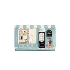 This handy wallet does exactly what it says on the tin, fitting all your everyday essentials within a lovely vintage style perfect little sewing shop. Dimensions: 15.5cm (L) x 12cm (H) x 5.5cm (W)