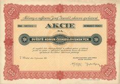 """Sklárny a raffinerie Josef Inwald akc. spol. (Glasfabriken und Raffinerien Josef Inwald AG.). Akcie na 200 Kč. Praha, 1935. Továrny: Teplice (""""Rudolfshütte""""), Poděbrady (""""Elsahütte""""), Německý Šicendorf - Polná (Střelecká a od roku 1948 sloučeno s Dobronínem), Zlíchov u Prahy (roku 1935 výroba přenesena do Teplic a závod prodán), Velké Březno nad Labem (roku 1916 zrušeno), Floridsdorf u Vídně."""