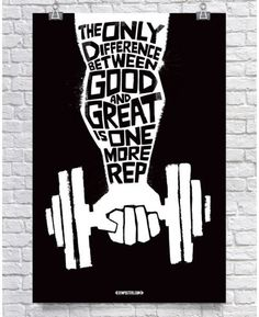 Difference Between Good & Great - Motivational Fitness Gym Poster