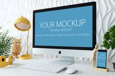 iMac and iphone mockup by Yuri-U on @creativemarket