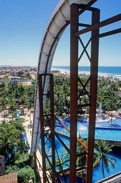 Insano - the world's tallest water slide. Beach Park, Fortaleza, Brazil.