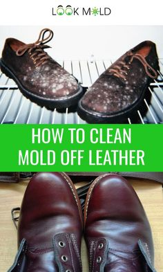 Learn how to clean mold off leather using a simple trick with a household cleaner you likely already have in your home. Clean mold and dust off your leather shoes, couches, purses, bags, coats. Leather Purse Cleaner, Clean Leather Purse, Leather Working, Leather Purses, Leather Boots, Cleaning Mold, Household Cleaning Tips, Cleaning Hacks, Cleaning Products