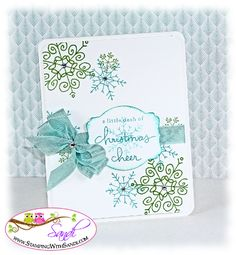 Stampin Up Endless Wishes by SandiMac - Cards and Paper Crafts at Splitcoaststampers. Ink: Gumball Green, Bermuda Bay Accessories: ribbon, Decor Labels Collection, Big Shot, Clear Blocks C and D  Read more: http://www.splitcoaststampers.com/gallery/photo/2452762#ixzz3KObaVYIr