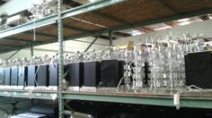 Lamps! Of all varieties, from fancy glass to contemporary wood to brass. Come on in and take a peek! $10.00 ea.